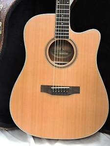 Timberidge TRC-4 Solid Top Acoustic Electric Cutaway Burwood Whitehorse Area Preview