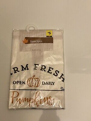 Perfect Harvest Printed Apron Farm Fresh Pumpkins Open Daily 28 In X32in