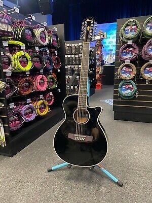 Ibanez 12 String Acoustic Electric Guitar AEG1812II BK Black Finish