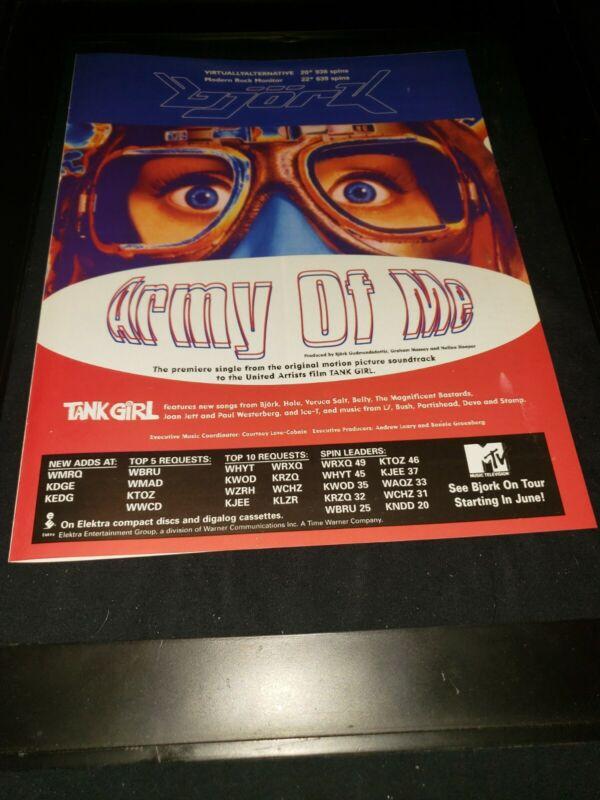 Bjork Army Of Me Rare Original Radio Promo Poster Ad Framed! #2