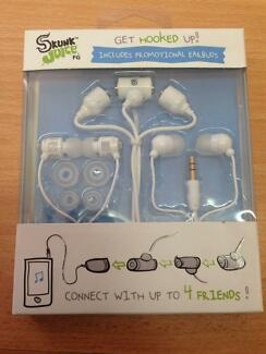 Skunk Juice Earbuds (White) with FREE 2nd promo pair of earphones Sydney City Inner Sydney Preview