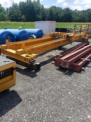 30' Long 5 Ton Overhead Bridge Crane Shaw Box Hoist