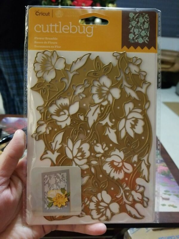 Cuttlebug FLOWER BRAMBLE Die by Anna Griffin 5x7 NEW In Package GORGEOUS