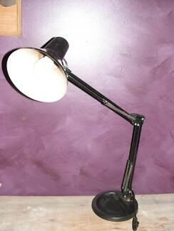 Vintage Danish Industrial black Planet style light-wks exc! Port Willunga Morphett Vale Area Preview
