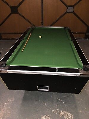 7x4 POOL TABLE SLATE VERY GOOD CONDITION WITH COVER AND ACCESSORIES..REFELTED!