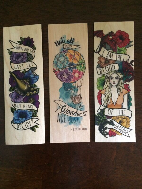 Ink and Wonder Wood Bookmark Lot Exclusive Owlcrate Fairyloot Faecrate