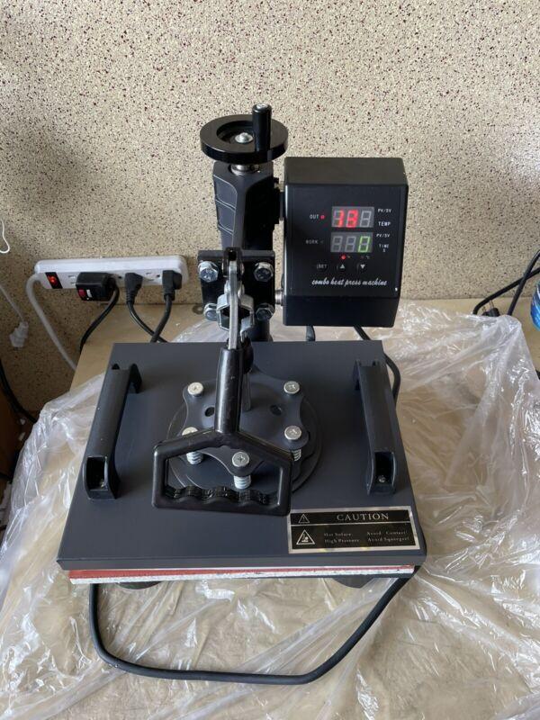 "5 in 1 Heat Press Machine Digital Swing Away Sublimation T-shirt Mug 12""x10"""