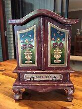 Hand Painted Timber Armoire - Decorative Piece - 520Hx360WX210D Parkinson Brisbane South West Preview