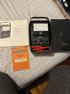 Simpson 260 Series 7 Volt-ohm-milliammeter Multimeter Tester Meter W Test Leads