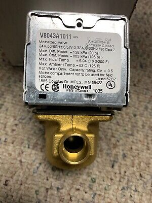 Honeywell V8043a1011 Motorized Zone Valve