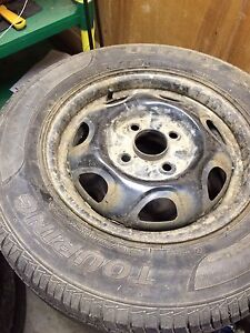 13 inch 4 bolt rims with tires