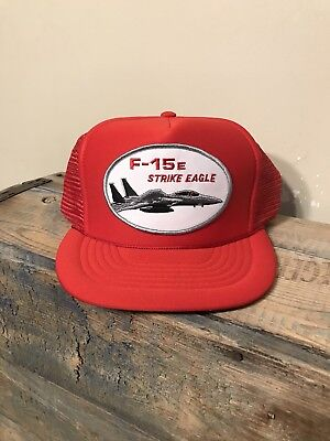 0918f9302a7e9 Vintage McDonnell Douglas F-15E Strike Eagle Fighter Jet Boeing trucker hat  cap