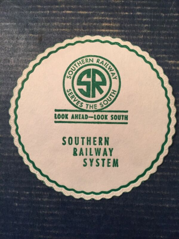 NEW - Vintage 10 SOUTHERN RAILWAY SYSTEM-TRAIN DRINK COASTERS - Cocktails