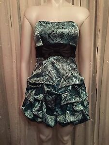 Teal party dress, size 3, worn once