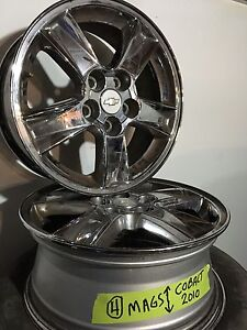 "4 mags 15"" chrome chevrolet cobalt 2010 5 trou"