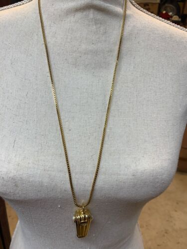 JOAN RIVERS WHISTLE PENDANT WITH 28 INCH CHAIN GC