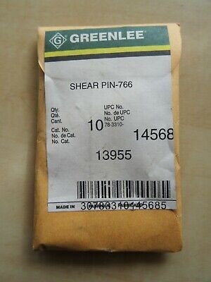 10 Greenlee 13955 Shear Pins For 766 Hand Crank Wire Puller Nip