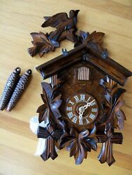 Anton Schneider Black Forest Cuckoo Clock 1-Day Movement, Wood, Made in Germany