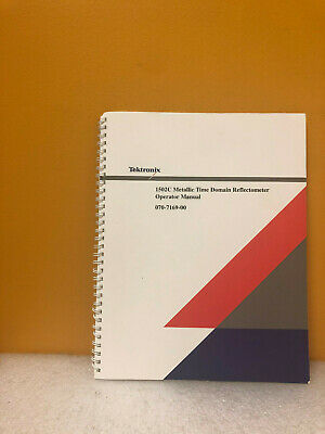 Tektronix 070-7169-01 1502c Metallic Time Domain Reflectometer Operator Manual