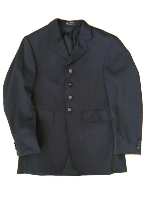 RJ Classics Mens Dressage Coat Sterling Black Stretch Size 44 Regular