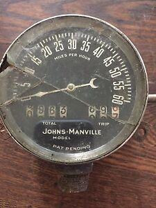 Antique Johns-Manville Model speedometer