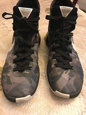 wholesale dealer 0551d b9095 Nike Hyperdunk 2015 Gray black silver Basketball Shoes Mens Size 10 M