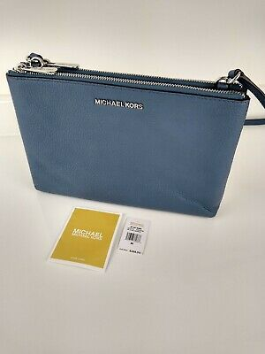 Michael Kors leather Jet Set Travel Double Cross Body Bag - Blue
