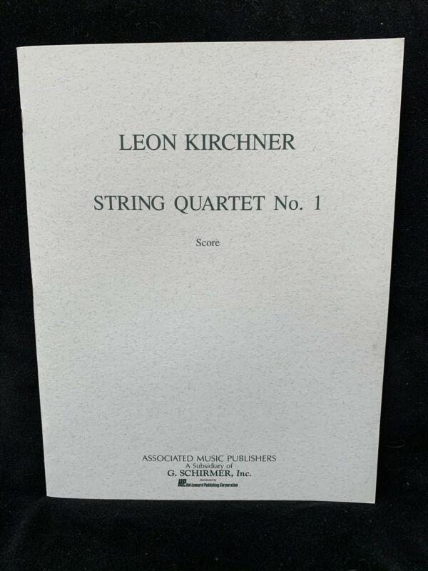 KIRCHNER, LEON - String Quartet #1 -  SCORE - AMP - NOS