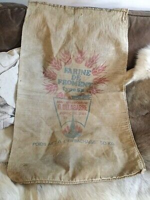 VINTAGE FRENCH AGRICULTURAL SACK ADVERTISING