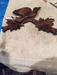 "Anton Schneider Black Forest Cuckoo Clock Crown 5"" By 8"" Grape Leaves"