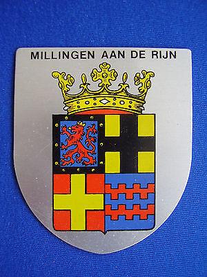 Blechschild Stadtwappen Millingen am Rhein Millingen aan de Rijn 7,5 x 6,5 cm