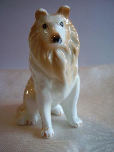 Vintage Bone China Collie Dog Figurine