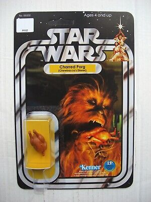 Vintage STAR WARS CHARRED PORG CHEWBACCAS DINNER CUSTOM on New Hope Style Card