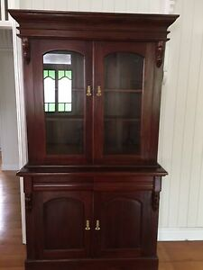 Mahogany display cabinet / bookcase Indooroopilly Brisbane South West Preview