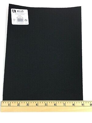 Black Presto Sticky Back Felt Sheet 9 x 12 Eco-Fi -