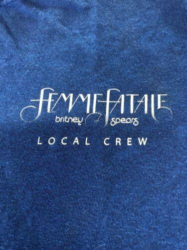 Vintage T Shirt - Britney Spears Femme Fatale Tour NOS XL Concert Seventh Studio