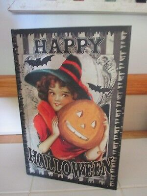 NWT Large Halloween Vintage Style Reproduction Faux Book Stash - Vintage Halloween Book Boxes