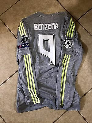 (Real Madrid Adizero Benzema France Formotion Player Issue Shirt  Match Unworn)