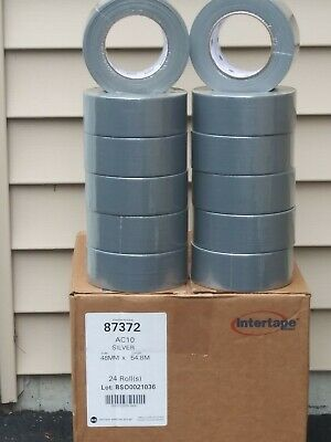 Duct Tape Silver 24 Rolls Heavy Duty 2x 60yd Intertape 8 Mil Free Shipping