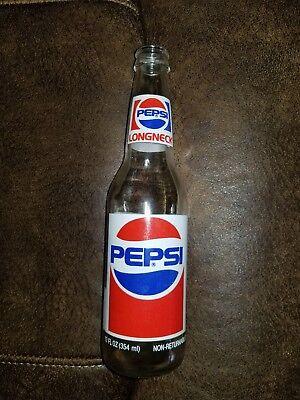 Vintage Longneck Pepsi Bottle Empty Collectible Soda Pop Glass