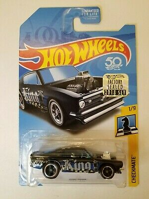 Hot Wheels King 'Kuda Black 2018 Super Treasure Hunt Factory Sealed NEW