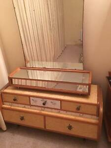 1960's retro/ vintage original dressing table and mirror. Fremantle Fremantle Area Preview
