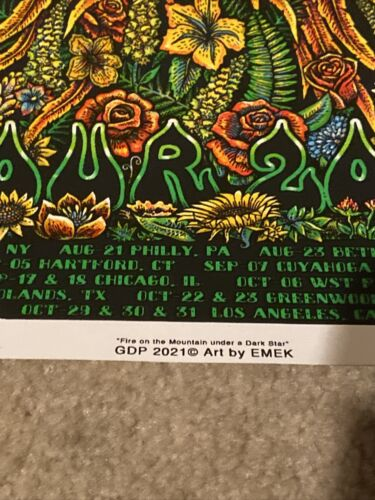 2021 Dead Company VIP Tour EMEK Limited Ed. Silkscreen Poster Signed Numbered - $265.00