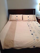 DOUBLE BED FRAME - wooden choc brown Bondi Beach Eastern Suburbs Preview