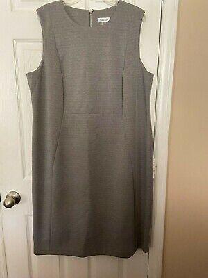Womans Calvin Klein Gray  Dress - Size 20W