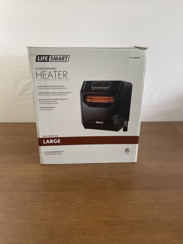 Lifesmart ZCHT1001US Zone Series Large Element Infrared Heater, Black