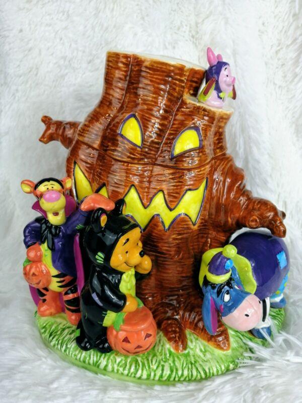 New Disney Winnie The Pooh & Friends Halloween Cookie Jar