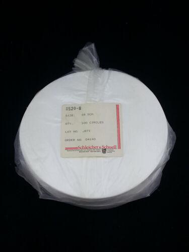 Grade 520-B Filter Paper 18.5cm, 100 circles ~ Schleicher & Schuell 04140