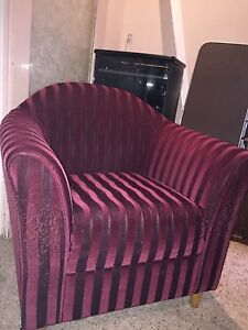 FREE- 2 red armchairs Banksia Park Tea Tree Gully Area Preview