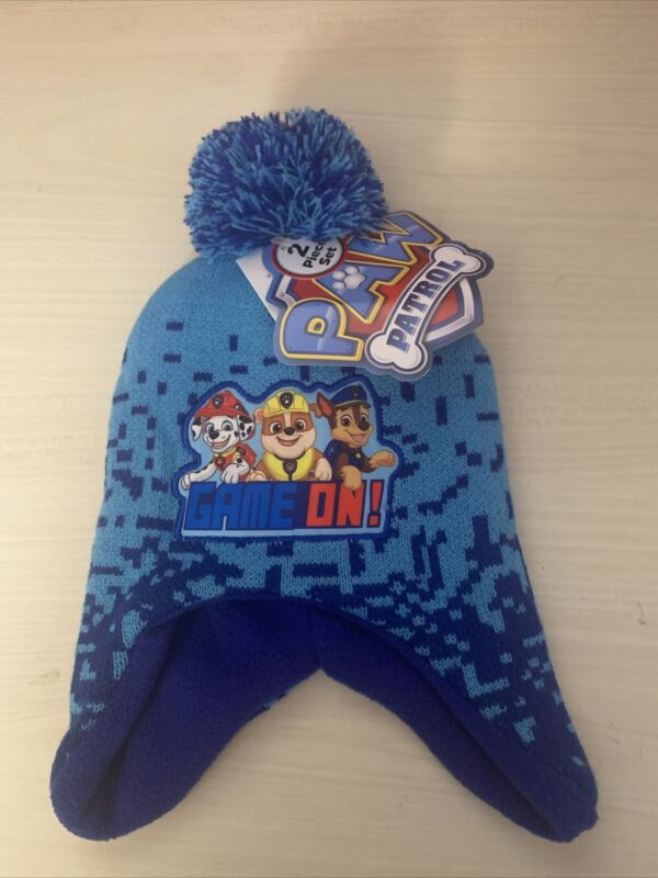 New Paw Patrol Chase Winter Hat And Mitten Set Size Toddler